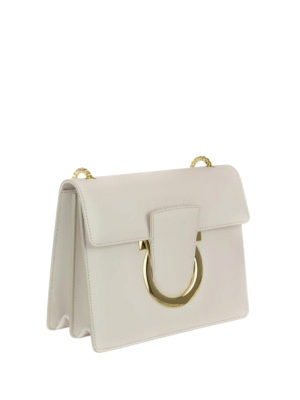 Salvatore Ferragamo: cross body bags online - Gancini leather cross body bag