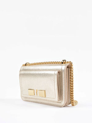 Salvatore Ferragamo: cross body bags online - Ginevra metallic leather small bag
