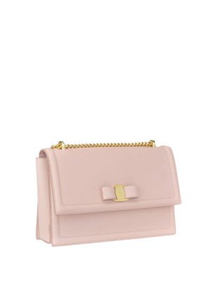 Salvatore Ferragamo: cross body bags online - Ginny light pink leather bag