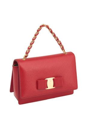Salvatore Ferragamo: cross body bags online - Ginny saffiano crossbody bag