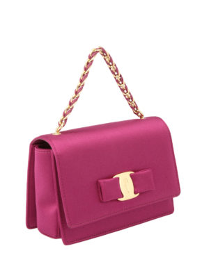 Salvatore Ferragamo: cross body bags online - Ginny satin crossbody bag