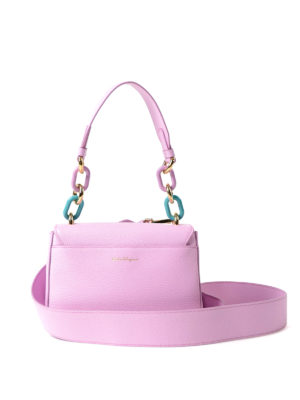 Salvatore Ferragamo: cross body bags online - Lexi colourful chain handle bag