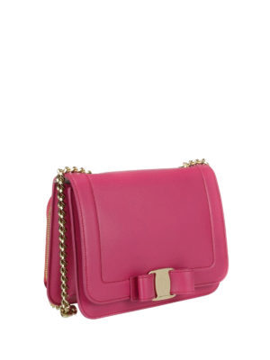Salvatore Ferragamo: cross body bags online - Rainbow Vara fuchsia small bag