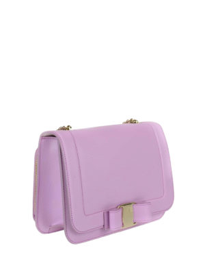 Salvatore Ferragamo: cross body bags online - Rainbow Vara leather small bag