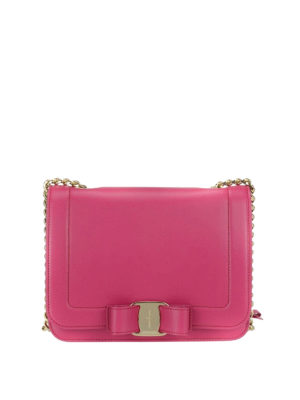 Salvatore Ferragamo: cross body bags - Rainbow Vara fuchsia small bag