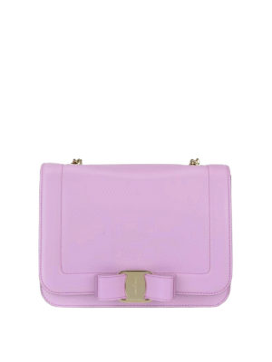 Salvatore Ferragamo: cross body bags - Rainbow Vara leather small bag
