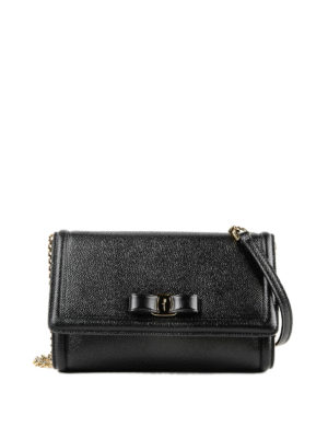 Salvatore Ferragamo: cross body bags - Vara bow leather cross body bag
