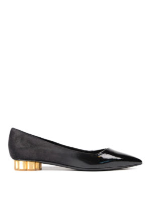 Salvatore Ferragamo: flat shoes - Bari flower heel flats