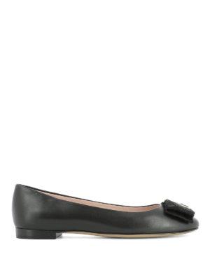 Salvatore Ferragamo: flat shoes - Bow detail leather flats