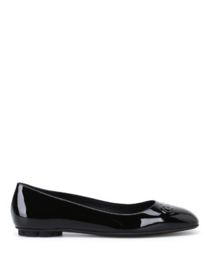 Salvatore Ferragamo: flat shoes - Broni black patent flats