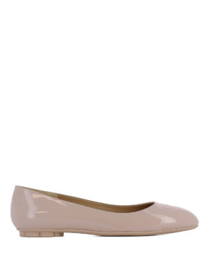 Salvatore Ferragamo: flat shoes - Broni patent leather ballerinas