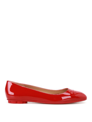 Salvatore Ferragamo: flat shoes - Broni red patent flats
