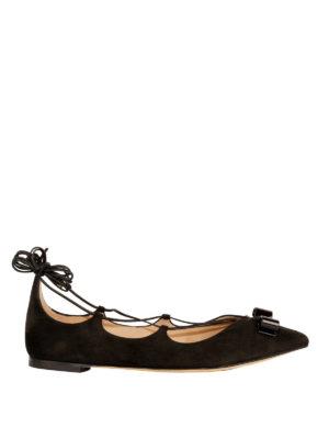 Salvatore Ferragamo: flat shoes - Claire suede flats