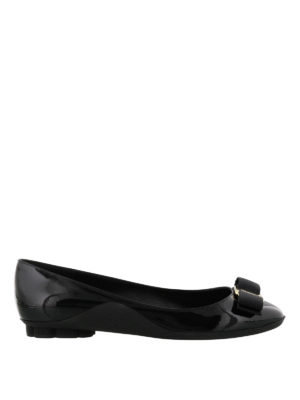 Salvatore Ferragamo: flat shoes - Flower heel flat shoes