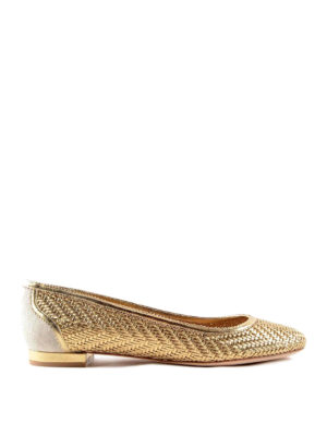 Salvatore Ferragamo: flat shoes - Leather ballerinas
