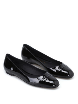 Salvatore Ferragamo: flat shoes online - Broni black patent flats