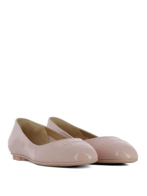Salvatore Ferragamo: flat shoes online - Broni patent leather ballerinas