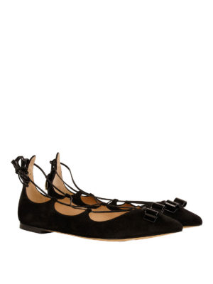 Salvatore Ferragamo: flat shoes online - Claire suede flats