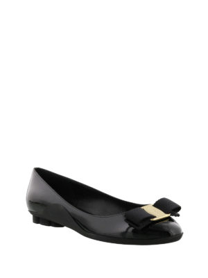 Salvatore Ferragamo: flat shoes online - Flower heel flat shoes