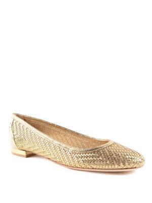 Salvatore Ferragamo: flat shoes online - Leather ballerinas