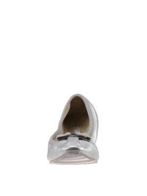 Salvatore Ferragamo: flat shoes online - Leather elasticated ballerinas