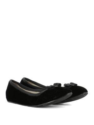Salvatore Ferragamo: flat shoes online - My Joy black velvet flats