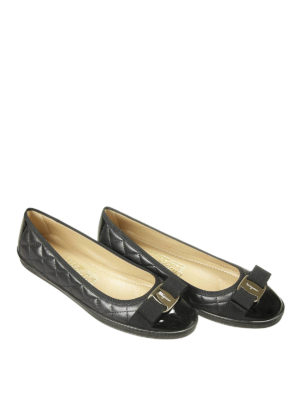 Salvatore Ferragamo: flat shoes online - Rufina quilted leather ballerinas