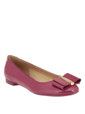 Salvatore Ferragamo: flat shoes online - Vara patent flats