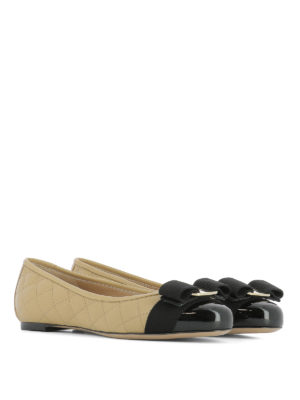 Salvatore Ferragamo: flat shoes online - Vara quilted leather flats