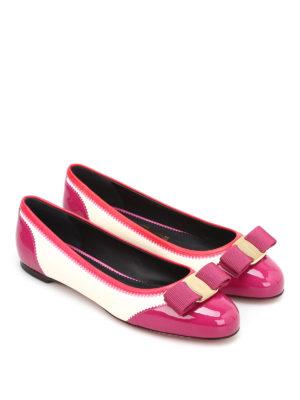 Salvatore Ferragamo: flat shoes online - Varina bicolour leather ballerinas