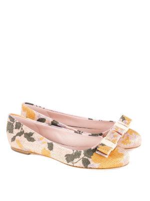 Salvatore Ferragamo: flat shoes online - Varina Flower studded ballerinas