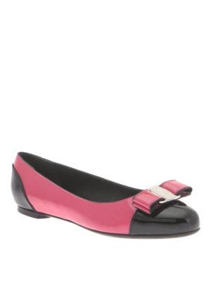 Salvatore Ferragamo: flat shoes online - Varina patent flat shoes