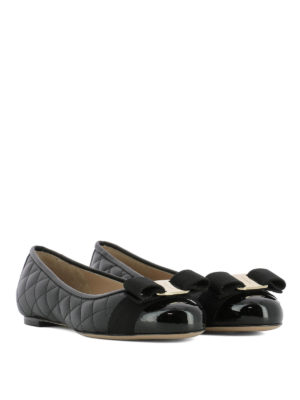 Salvatore Ferragamo: flat shoes online - Varina quilted leather flats
