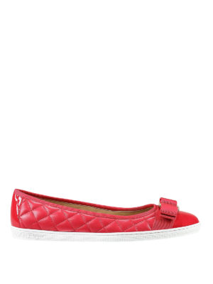 Salvatore Ferragamo: flat shoes - Rufina quilted leather ballerinas