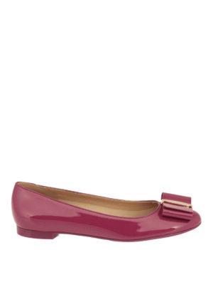 Salvatore Ferragamo: flat shoes - Vara patent flats