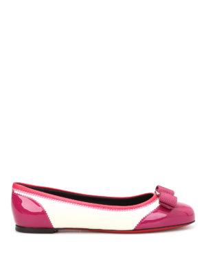 Salvatore Ferragamo: flat shoes - Varina bicolour leather ballerinas