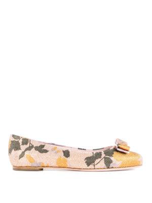 Salvatore Ferragamo: flat shoes - Varina Flower studded ballerinas