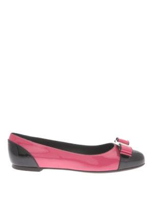 Salvatore Ferragamo: flat shoes - Varina patent flat shoes