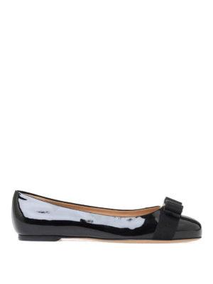 Salvatore Ferragamo: flat shoes - Varina patent leather flat shoes
