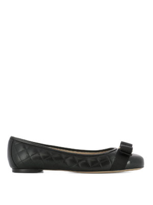 Salvatore Ferragamo: flat shoes - Varina quilted leather flats