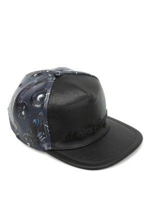 Salvatore Ferragamo: hats & caps - Motorcycle print baseball hat