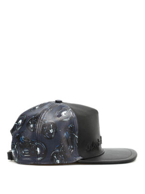 Salvatore Ferragamo: hats & caps online - Motorcycle print baseball hat