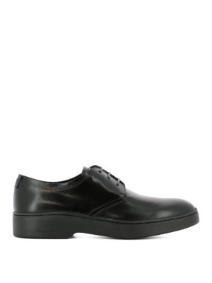 Salvatore Ferragamo: lace-ups shoes - Brushed leather Derby shoes