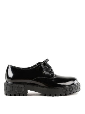 SALVATORE FERRAGAMO: scarpe stringate - Stringate Calvello in pelle lucida