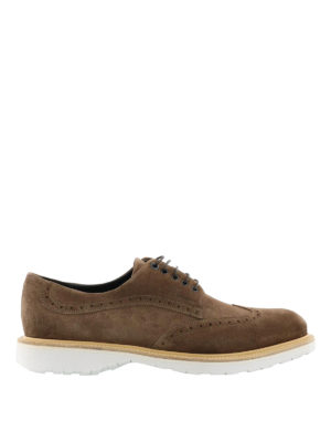 Salvatore Ferragamo: lace-ups shoes - Concorde suede derby shoes