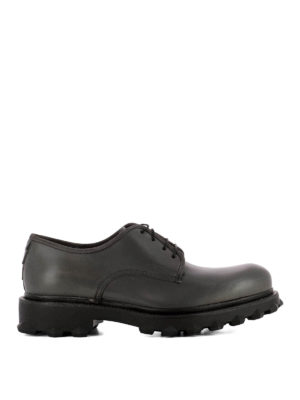 Salvatore Ferragamo: lace-ups shoes - Dassel studded sole leather Derby