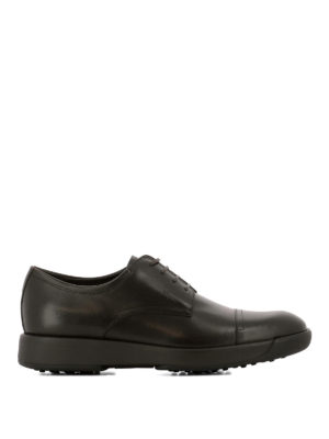 Salvatore Ferragamo: lace-ups shoes - Doland brown leather Derby shoes