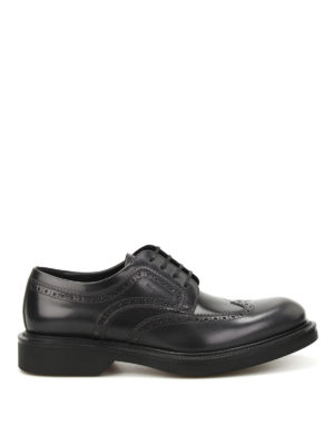 Salvatore Ferragamo: lace-ups shoes - Donegal brushed leather brogues