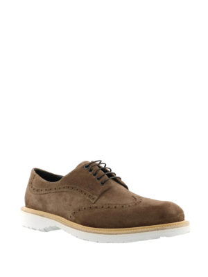 Salvatore Ferragamo: lace-ups shoes online - Concorde suede derby shoes
