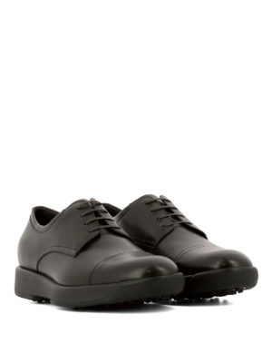 Salvatore Ferragamo: lace-ups shoes online - Doland brown leather Derby shoes
